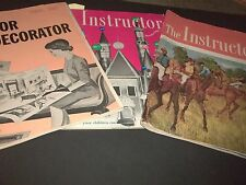 Lot 3 Vintage The Instructor magazine for Educators Christmas Ideas Halloween 63
