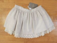 NWT Mayoral Girls' Linen and Lace Ivory Skirt  ~ Size 7