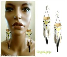 TOPSHOP EXTRA LONG BEAD TASSEL SPIKE AZTEC STATEMENT EARRINGS BRAND NEW