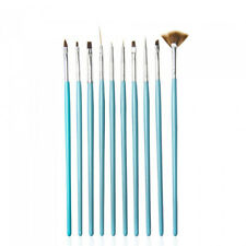 10 Nail Art UV Gel Painting Drawing Brushes Acrylic Flat Brush Set Professional
