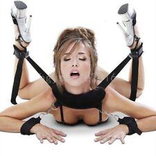 Under Bed Bondage Set Restraint Kit Pillow Ankle Cuffs System BDSM Toy,Black