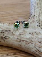 Iridescent ocean blue post earrings Montana silversmiths