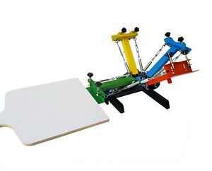 Screen Printing Press 4 Color 1 Station Screen Printing Machine