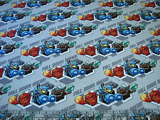 3 Yards Quilt Cotton Fabric - Camelot Skylanders Full Boom Ahead Gray - SALE