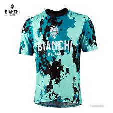 NEW 2021 Bianchi Milano POZZILLO Short Sleeve Pull Over MTB Jersey : CELESTE