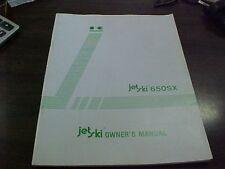 Kawasaki JS 650 A1 Owner's Manual