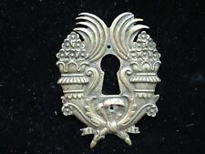 Jolie ancienne entrée de serrure en bronze, Empire