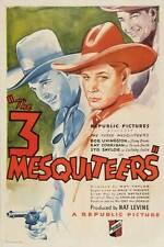 THE THREE MESQUITEERS Movie POSTER 27x40 Robert Livingston Ray Corrigan Syd