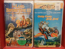 The Land Before Time III / Chitty Chitty Bang Bang VHS LOT Brand New Family Kids
