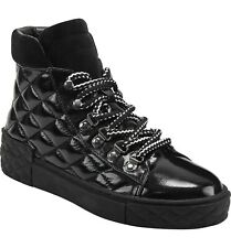 Marc Fisher Boots Dulce Patent Quilted Lace Up Ankle Sneaker Booties 7.5 $150
