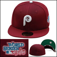 New Era Philadelphia Phillies Fitted Hat Cap 1980 World Series Side Patch MLB