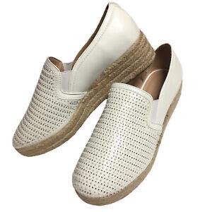 Andiamo Womens Slip On Shoes White Size 10 Loafer Platform Espadrille Rhine