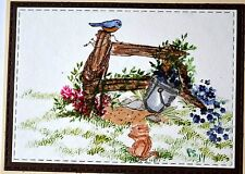 COWBOY FENCE RETIRED! (U get photo #2 L@@K@examples ART IMPRESSIONS RUBBER STAMP