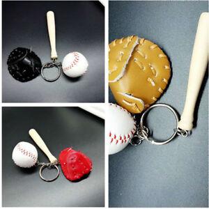 New Mini baseball keychain baseball and bat key ring baseball glove key chain