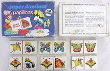 "Ancien jeu ""Super dominos, les papillons"" Jeu d'éveil Robert Laffont > 4 ans"