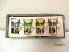 SHOT GLASSES - SET OF 4 - PENNSYLVANIA & OHIO - MADE IN JAPAN