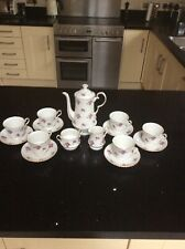 "Hammersley Fine Bone China "" Roses "" (Spode) Tea / Coffee Set 6 Setting"