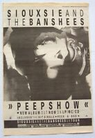 SIOUXSIE AND THE BANSHEES 1988 POSTER ADVERT PEEPSHOW