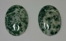 22x30mm Natural Tree Agate Calibrated Oval Cabochon Gemstones Gems Cab Jewelry