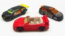 * 1/64 * Hot Wheels X 3 * Mitsubishi Eclipse , Audacious 90 Civic + Loop Coupe *