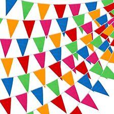 Car Dealer Supplies 300 Pcs Multicolor Pennant Banner Flags 375 Ft Nylon