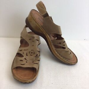 Josef Seibel Size 42 Brown Leather Sandals Womens Shoes Size 9 Ladies