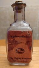 """Vintage Medicine Hand Crafted Bottle, 4 1/2""""Aphrodisiac, The Upjohn Company"""