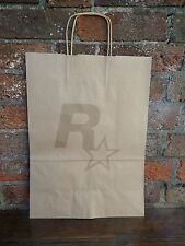 $$$$Rockstar Games Logo Bolsa De Papel Marrón Nuevo $$$$Gta Red Dead Max Payne $$$$