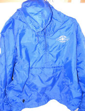 RYL Blue Charles River Pullover Jacket Hoodie WIND BREAKER Lined Women's Size XL