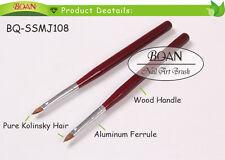 BQAN 1PC Drawing Nail Art Kolinsky 3D Nail Art Brush #2 Newest Red Wooden Handle