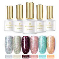 6 pcs/set BORN PRETTY Glitter Gellack Sequins Soak Off  Nail UV Gel