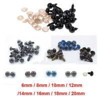 100pcs 6-20mm Mixed Color Safety Eyes for Teddy Bear Soft Doll Toys DIY Craft