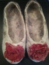 100% Wool Felt Ballerinas Slippers Beige handmade marina ballet size 7 8 9 10 11