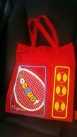 New Vintage Red Ralfeaux Canvas Tennis Racquet Bag