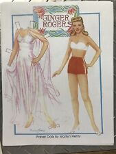 Marilyn Henry Paper doll Ginger Rogers paper doll pages Color Movie Costumes