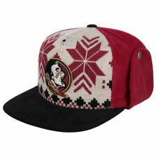 Florida State Seminoles NCAA Dog Ear Down Flap Strapback Flat Bill Brim Hat Cap