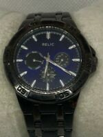 Relic ZR15533 Men's Gunmetal Stainless Steel Analog Dial Quartz Wrist Watch E171