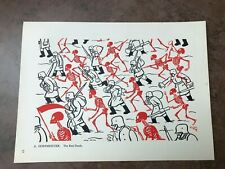 More details for original 1944 ww2 double sided print !  a . hoffmeister - the red death