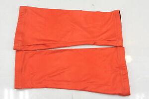 Verge Small Powerprint Lycra Knee Warmers Orange Brand New