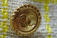 STAMPED VINTAGE CHANEL BUTTON 1 pieces One LOGO CC gold