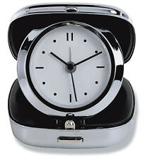 New Compact Sturdy Metal Analog Travel Alarm Clock