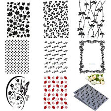 Plastic Embossing Folder Template DIY Scrapbook Paper Craft Various Pattern HOT