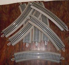 Lot 6 de 8 rails courbés env 22 cm sur support plastique LIMA