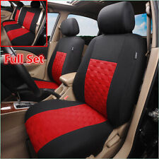 9PCs Washable Car Seat Covers Full Set Front&Rear Seat Back Head Rest Protector