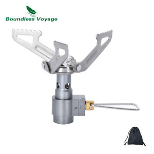 Outdoor Camping Titanium Gas Stove Cooking Ultralight Burner Furnace Only 26g