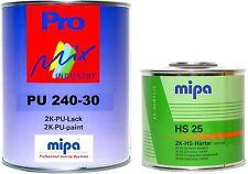 Mipa 2K-Lack RAL (7015) Schiefergrau, SEIDENMATT, 1,5 Liter Set, #MP10