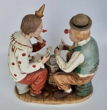 Vintage Porcelain Clown Figurine Playing Poker Tundra Imports  Japan MINT