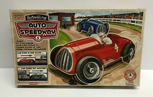 Schylling AUTO SPEEDWAY Wind Up Race Car Track Tin Toy