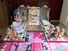 Vintage Barbie Folding Family House Plus Accessories, Garden Furniture, 5 Dolls