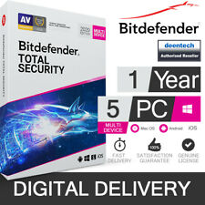 Bitdefender Total Security 2020 (5 User) Multi Device & VPN Genuine License Key